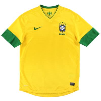 2012-13 Brazil Nike Home Shirt M