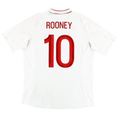 2012-13 England Home Shirt Rooney #10 L