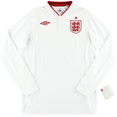 "2012-13 England Umbro Home Shirt *w/tags* (52"") L/S XXL"