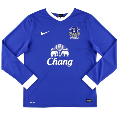 2012-13 Everton Home Shirt L/S L