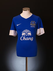 2012-13 Everton Home Shirt M