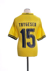 2012-13 FC Brondby Match Issue Home Shirt Thygesen #15 XL