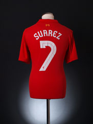 2012-13 Liverpool Home Shirt Suarez #7 S