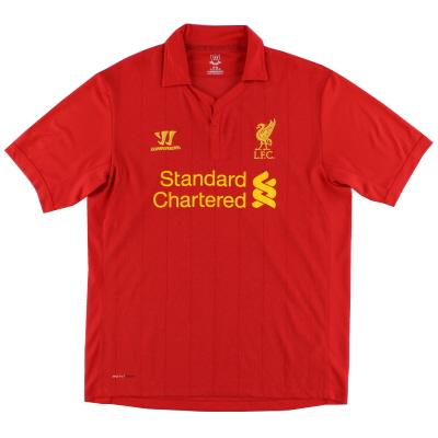 2012-13 Liverpool Warrior Home Shirt L