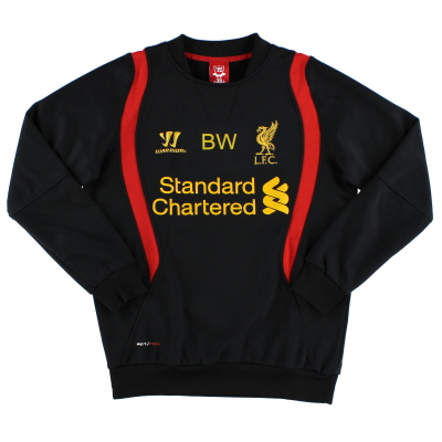 2012-13 Liverpool Worn Training Jumper 'BW' L/S S