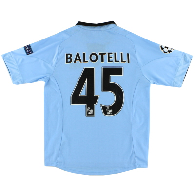2012-13 Manchester City Home Shirt Balotelli #45 S