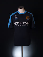 2012-13 Manchester City Worn Training Shirt L