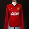 2012-13 Manchester United Home Shirt Scholes #22 L/S *Mint* M