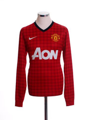 2012-13 Manchester United Home Shirt L/S S