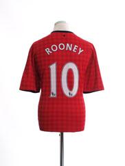 2012-13 Manchester United Home Shirt Rooney #10 XL.Boys
