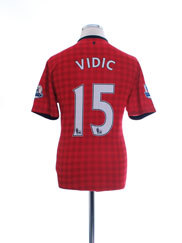 2012-13 Manchester United Home Shirt Vidic #15 M