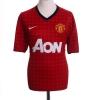 2012-13 Manchester United Home Shirt Vidic #15 M