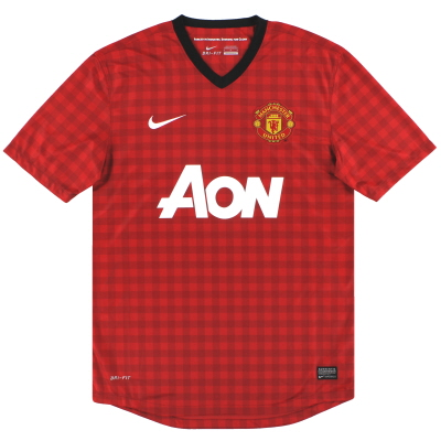 2012-13 Manchester United Nike Home Shirt S
