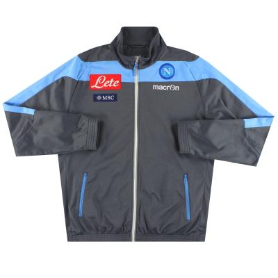2012-13 Napoli Macron Track Jacket XL