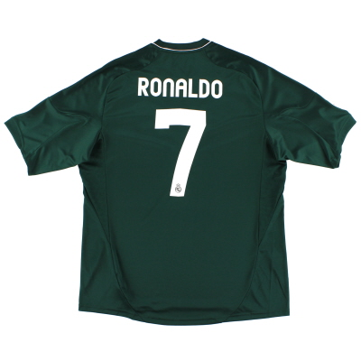 2012-13 Real Madrid CL Third Shirt Ronaldo #7 *Mint* XL