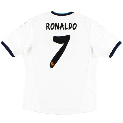 2012-13 Real Madrid Home Shirt Ronaldo #7 L