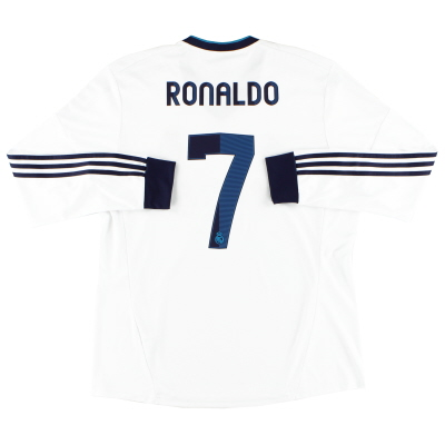 2012-13 Real Madrid Home Shirt Ronaldo #7 L/S XL
