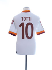 2012-13 Roma Away Shirt Totti #10 M