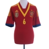 2012-13 Spain Home Shirt A. Iniesta #6 L