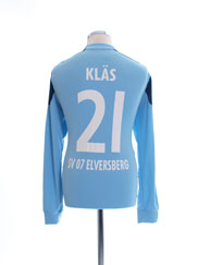 2012-13 SV Elversberg Match Issue Goalkeeper Shirt Klas #21 L/S L