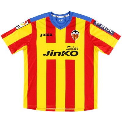 2012-13 Valencia European Away Shirt #9 M