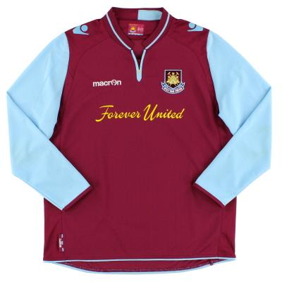2012-13 West Ham Macron Home Shirt L/S XL.Boys