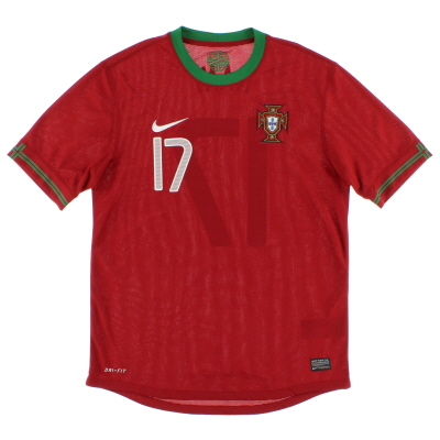 2012-14 Portugal Home Shirt Nani #17 M