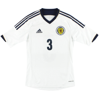 2012-14 Scotland adidas Formotion Player Issue Away Shirt #3 *As New* S