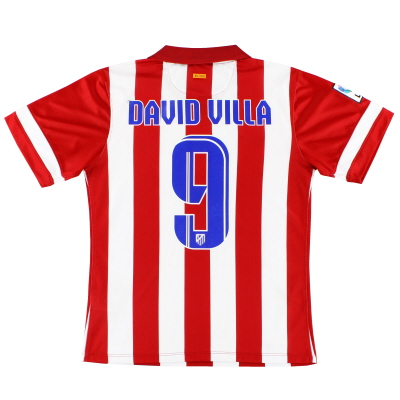 2013-14 Atletico Madrid 'Authentic' Home Shirt David Villa #9 M