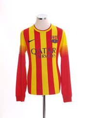 2013-14 Barcelona Away Shirt L/S S