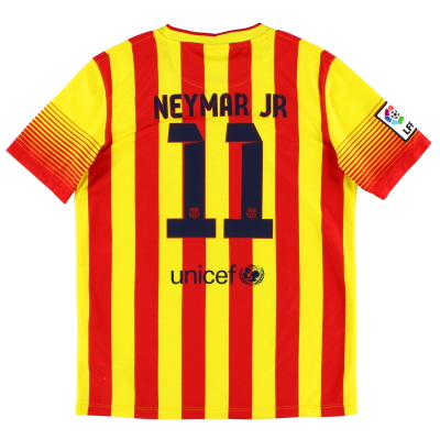 2013-14 Barcelona Away Shirt Neymar Jr. #11 XL.Boys