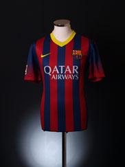 2013-14 Barcelona Home Shirt S