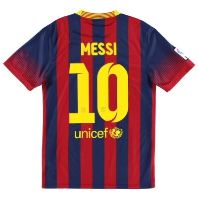 2013-14 Barcelona Home Shirt Messi #10 L.Boys