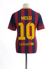 2013-14 Barcelona Home Shirt Messi #10 M