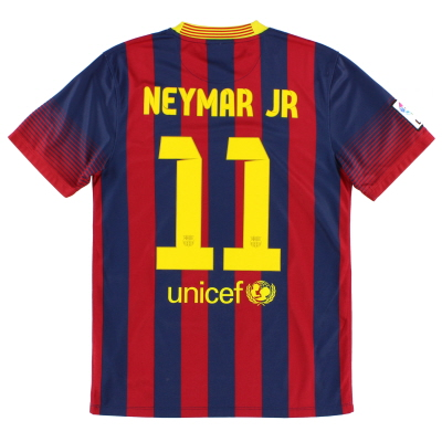 2013-14 Barcelona Home Shirt Neymar Jr #11 XL.Boys