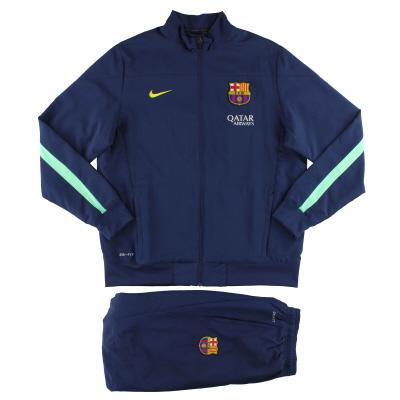 2013-14 Barcelona Nike Woven Sideline Warm-Up Tracksuit *Mint* L