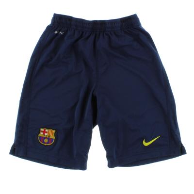 2013-14 Barcelona Nike Longer Knit Training Shorts *Mint* S
