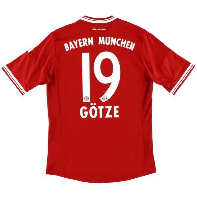 2013-14 Bayern Munich Home Shirt Gotze #19 S