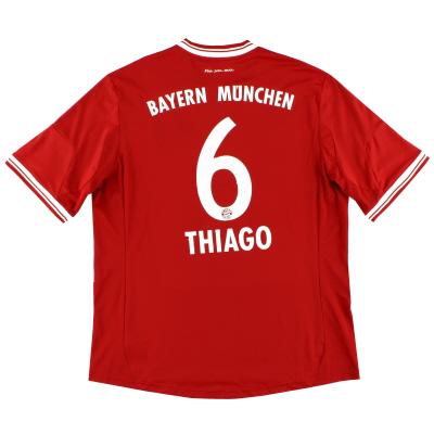 2013-14 Bayern Munich Home Shirt Thiago #6 XL
