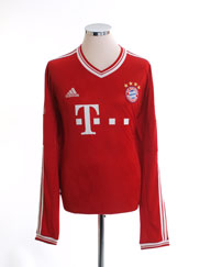 2013-14 Bayern Munich Home Shirt L/S XXL