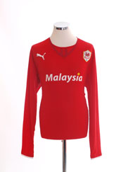 2013-14 Cardiff City Home Shirt L/S L
