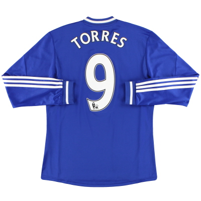 2013-14 Chelsea adidas Home Shirt Torres #9 L/S M
