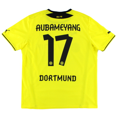 2013-14 Dortmund Home Shirt Aubameyang #17 *Mint* XL