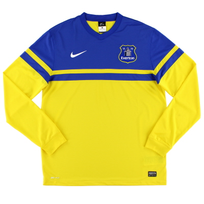 2013-14 Everton Away Shirt L/S L