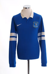 2013-14 Everton Home Shirt L/S L