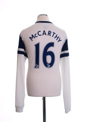 2013-14 Everton Third Shirt McCarthy #16 L/S *Mint* XL