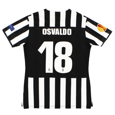 2013-14 Juventus 'Authentic' Home Shirt Osvaldo #18 L