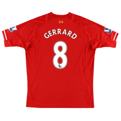2013-14 Liverpool Home Shirt Gerrard #8 L