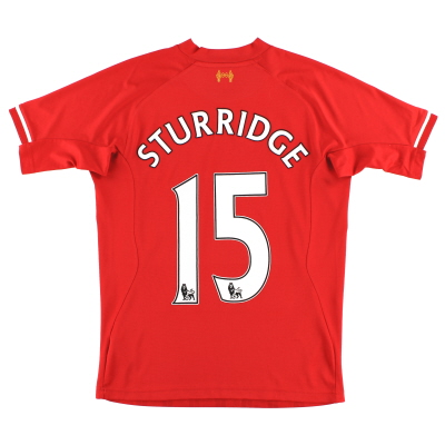 2013-14 Liverpool Home Shirt Sturridge #15 S