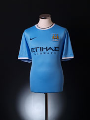 2013-14 Manchester City Home Shirt *Mint* XL.Boys